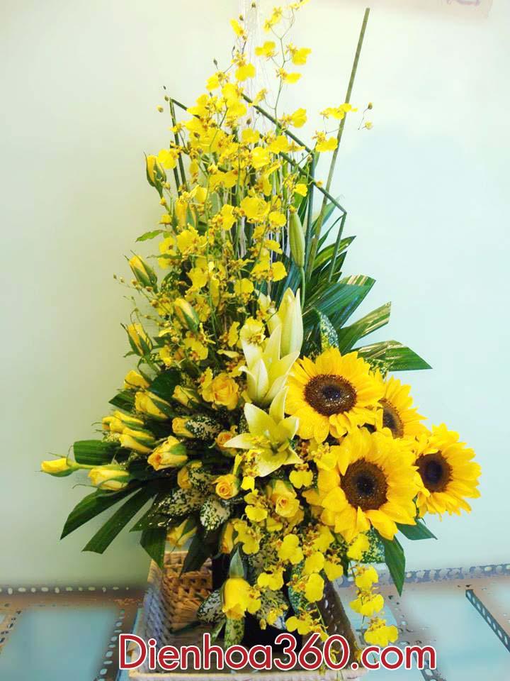 Giỏ hoa chúc mừng, hoa tươi, lãng hoa chúc mừng