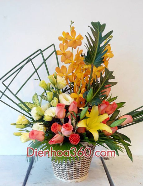 Giỏ hoa tặng bạn, hoa sinh nhật
