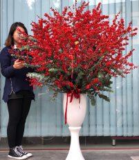 Top 10 bình hoa đào đông đẹp nhất
