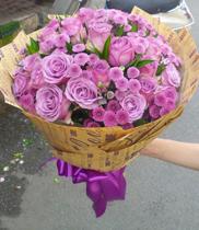 Hoa sinh nhật-hoa hồng tím