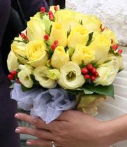 Cửa hàng bán hoa cưới, hoa cưới màu vàng