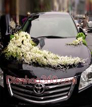 Trang trí xe hoa tại Hà Nội-xe hoa màu trắng