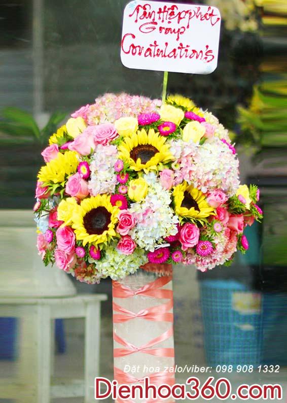 Điện hoa chúc mừng sinh nhật – bình hoa đẹp