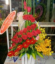 Điện hoa quận hai bà trưng, cửa hàng hoa quận hoàng mai, gửi hoa giáp bát