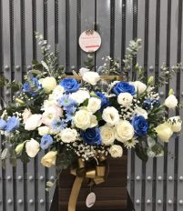 Các mẫu hoa chúc mừng và hoa khai trương màu xanh