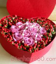 Cách cắm hoa hình trái tim đẹp