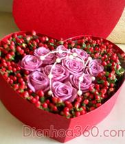 Quà tặng sinh nhật, hop tim dep, flower