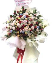 Hoa mừng khai trương hoa hồng