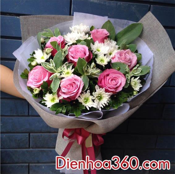 hoa sinh nhat, hoa mung sinh nhat
