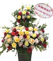 Hoa tặng sinh nhật-Giỏ hoa 2 tầng