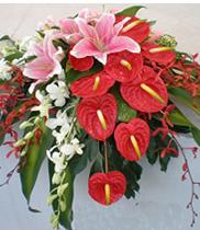 Hoa bục phát biểu, hoa tươi