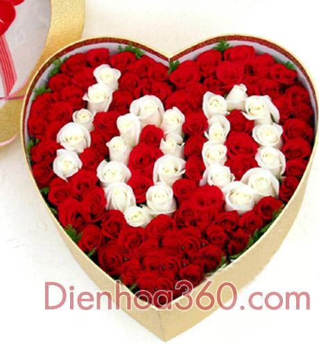 Hộp hoa đẹp, hoa hoa vip, gửi quà sinh nhật đẹp