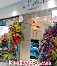Khai trương lotu studio, các lãng hoa tươi được chuyển tới chúc mừng