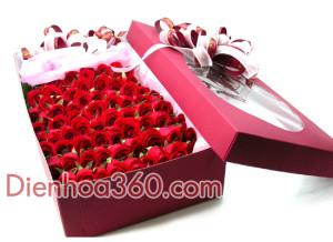 Mua hoa hồng, hộp hoa đẹp