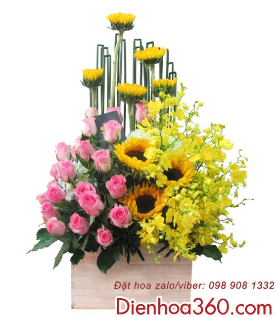 Dien hoa sinh nhat, hoa tuoi gia re