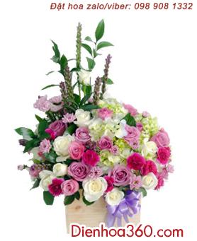 Mau hoa sinh nhat dep, shop hoa tuoi online