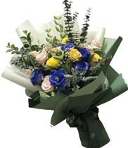 Bó hoa hồng xanh tặng sinh nhật