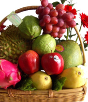 Giỏ hoa quả sạch rẻ nhất Hà Nội