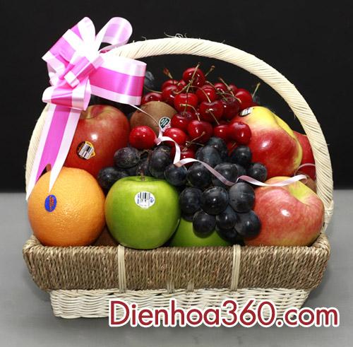 Giỏ hoa quả,giỏ trái cây, đặt giỏ hoa quả sạch