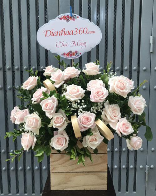 Giỏ hoa chúc mừng hoa tươi