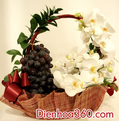 Giỏ hoa quả – giỏ hoa và quả