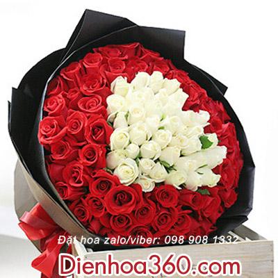hoa đẹp nhất-mẫu hoa sinh nhật hình tim