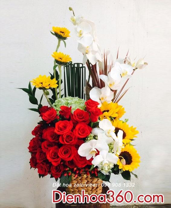 hoa sinh nhat, mau hoa dep
