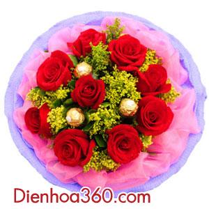 Dịch vụ gửi điện hoa Valentine cho bà xã mới cưới