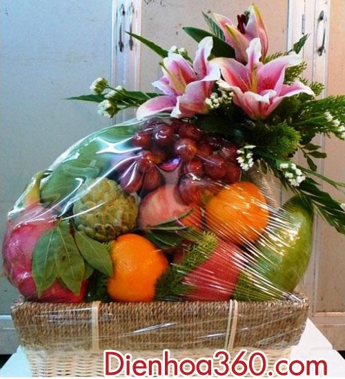 Đặt giỏ hoa quả tại Sài Gòn