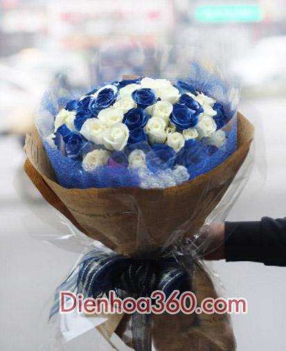 bo hoa dep-xanh trang