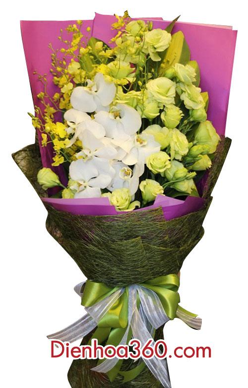Bó hoa lan hồ điệp