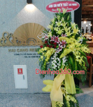 Khai trương nhà hàng Hải Cảng sân bay quốc tế nội bài, điện hoa chúc mừng, hoa khai trương chúc mừng