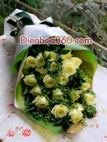 Điện hoa giá rẻ, hoa hồng vàng