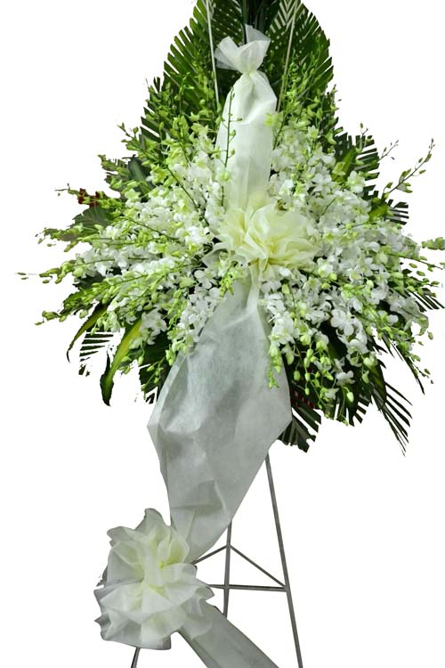 Hoa chia buồn trắng CB12