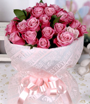 bó hoa hồng tím, hồng nhập ngoại