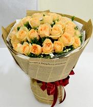Bó hoa hồng vàng, Hoa hồng Vàng, hoa tuoi