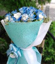 Dien hoa, Cách bó hoa hoa hồng xanh đẹp