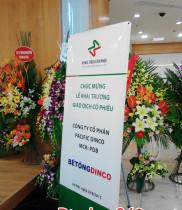 Điện hoa chúc mừng lễ khai trương giao dịch cổ phiếu C.Ty CP Bê tông Dinco, dịch vụ điện hoa, hoa tươi
