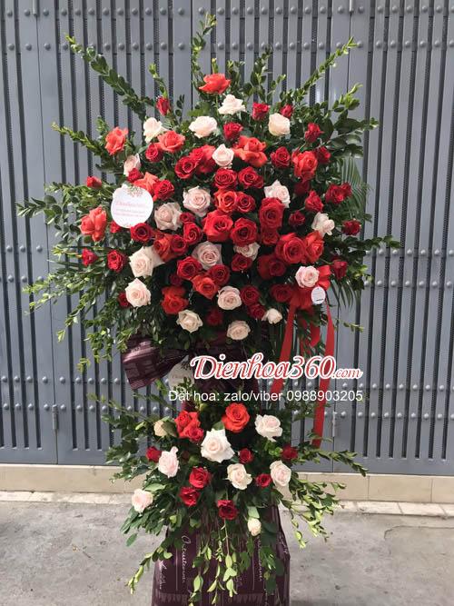 Hoa khai trương Hà Nội hoa hồng