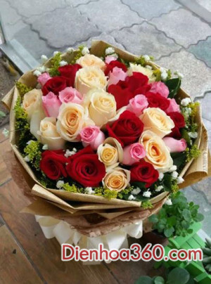 hoa tuoi dep, bo hoa sinh nhat, hoa tuoi, mau hoa dep