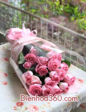 qua tang sinh nhat, hoa tuoi, hoa hong sen