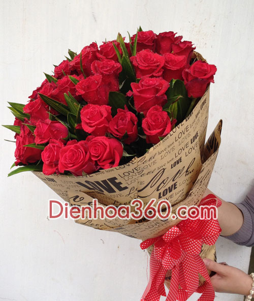 qua tang valentime, dien hoa valentime, shop hoa online