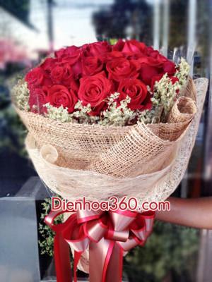 red rose_senflower