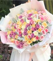 Tặng hoa – bó hoa nhiều màu
