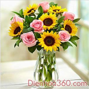 hoa sinh nhat, binh hoa dep, dat dien hoa ha noi,send flower to Vietnam