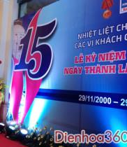 Lãng hoa chúc mừng kỷ niệm 15 năm thành lập TỔNG CÔNG TY KHÍ VIỆT NAM -CTCP CÔNG TY CỔ PHẦN KINH DOANH KHÍ HÓA LỎNG MIỀN BẮC