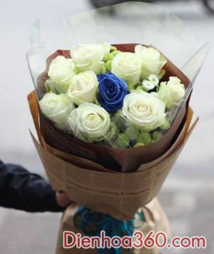 hoa hong xanh, dien hoa gia re, mau hoa dep re, hoa tuoi
