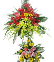 Lẵng hoa đẹp chúc mừng