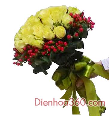 Hoa bó-hoa hồng vàng
