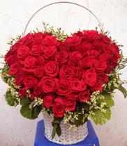 shop hoa tươi | giỏ hoa hình tim